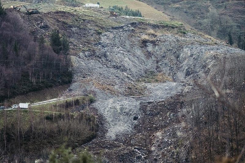 Derrumbe en el vertedero de Zaldibar. Foto: Santiago Farizano