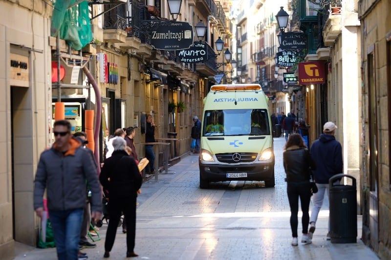 Parte vieja de Donostia la víspera de iniciarse el Estado de Alarma. Foto: Santiago Farizano