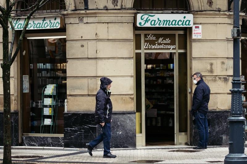 Farmacia en Donostia. Foto: Santiago Farizano