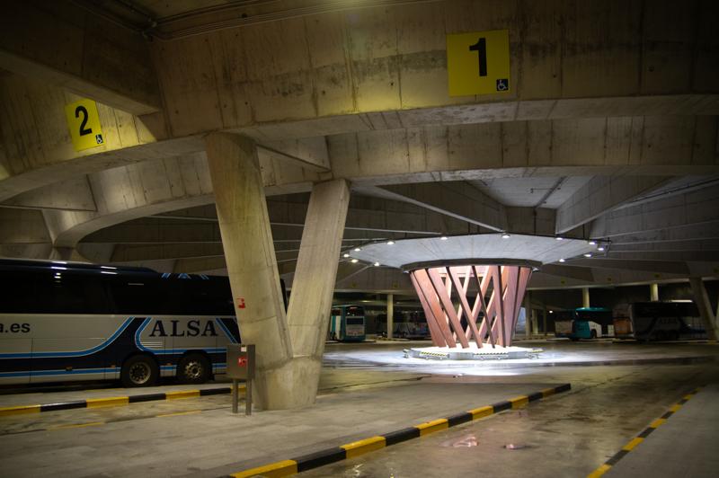 Estación de autobuses en Atotxa. Foto: Santiago Farizano