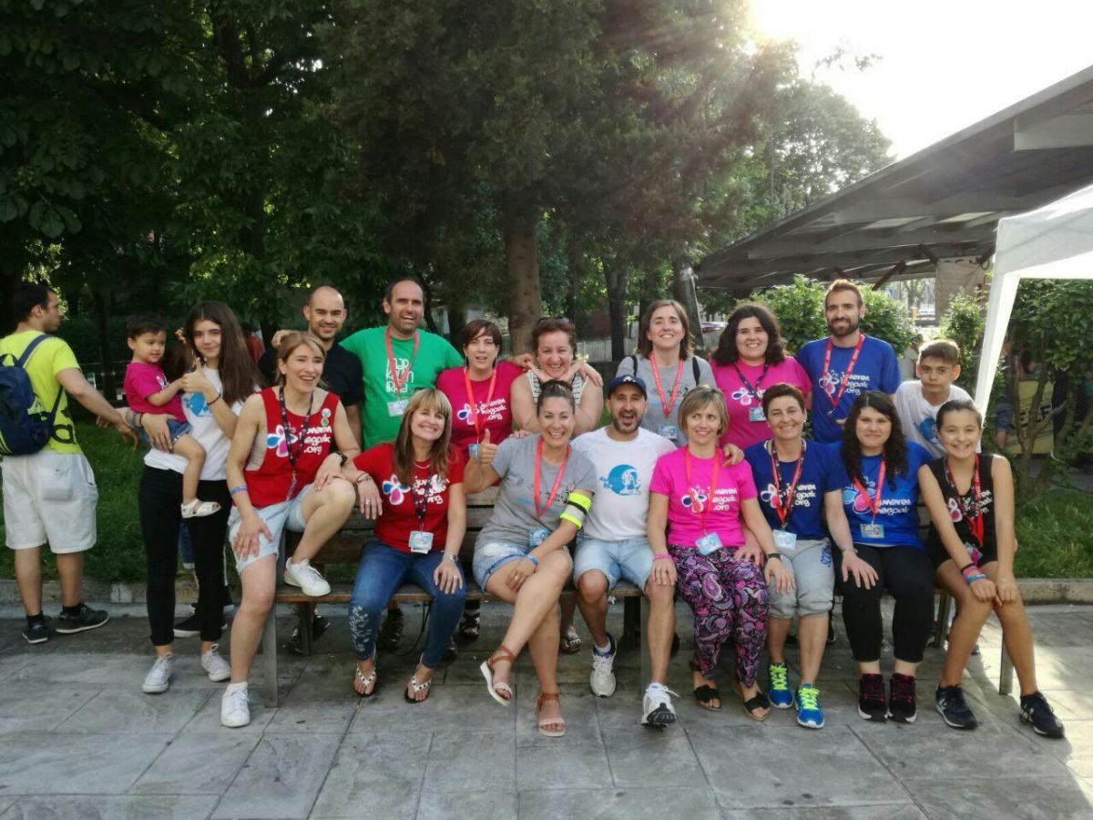 Voluntarios de Juneren hegoak. Foto: J.H.