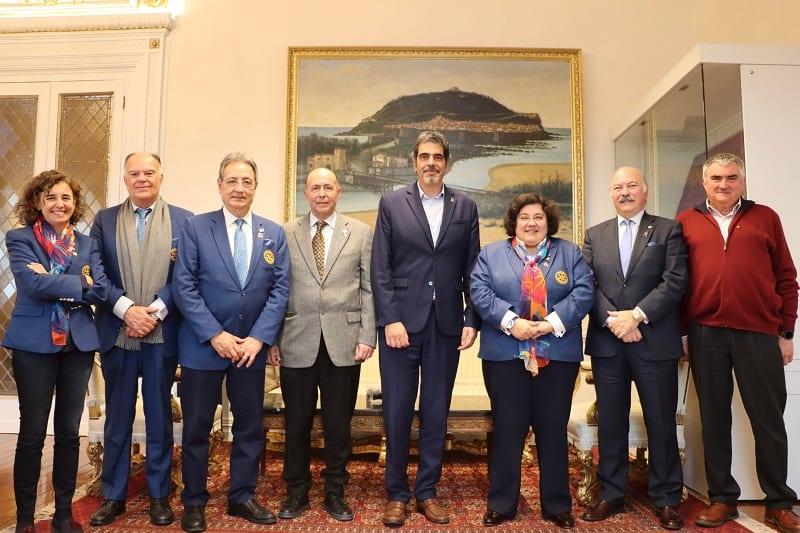 Encuentro del alcalde con el Rotary Club. Foto: Rotary Club