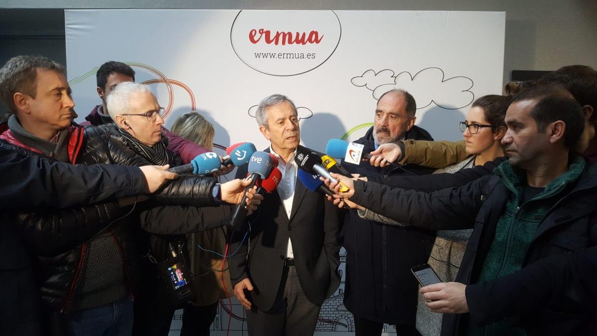 Rueda de prensa hoy en Ermua de los responsables del operativo. Foto: Gobierno vasco