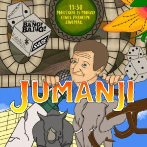 jumanji 300x300 - Txiki Txiki Bang Bang, la magia del cine en familia