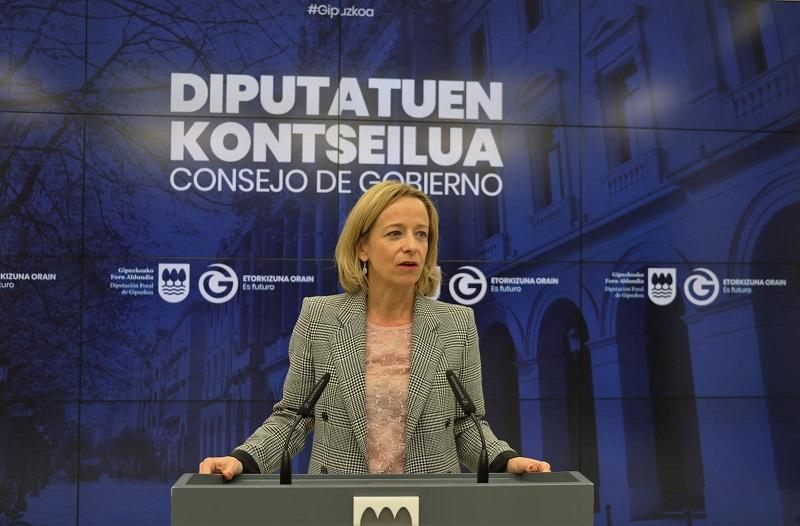 La portavoz foral Eider Mendoza. Foto: Diputación