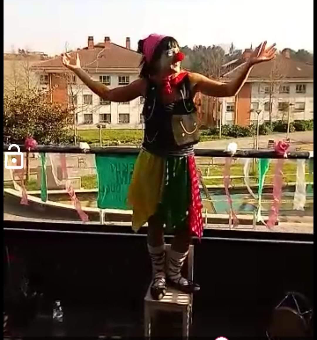 Naiara Sampedro vestida de Damatxo. Foto: Naiara Sampedro