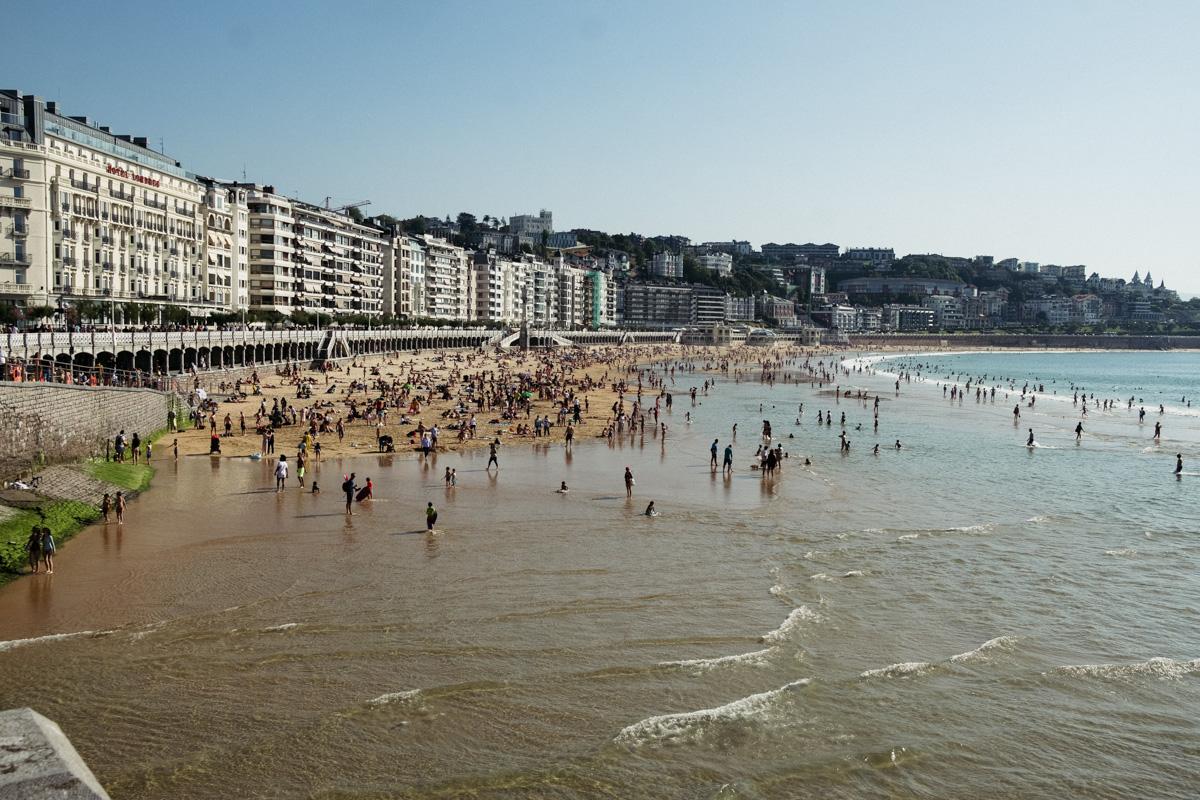 Imagen de la playa de la Concha. Foto: Santiago Farizano