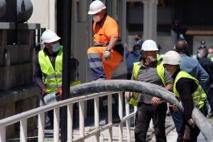 2020 0605 14524200 copy 800x533 300x200 - (Ampliación) Las obras del Metro provocan un socavón en el sótano de un edificio de la calle Zubieta