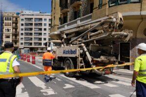 2020 0605 14582000 copy 800x533 300x200 - (Ampliación) Las obras del Metro provocan un socavón en el sótano de un edificio de la calle Zubieta