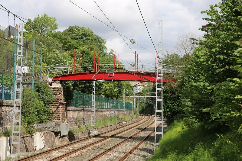 La nueva pasarela en el paseo Zubiaurre. Foto: Ayuntamiento de Donostia