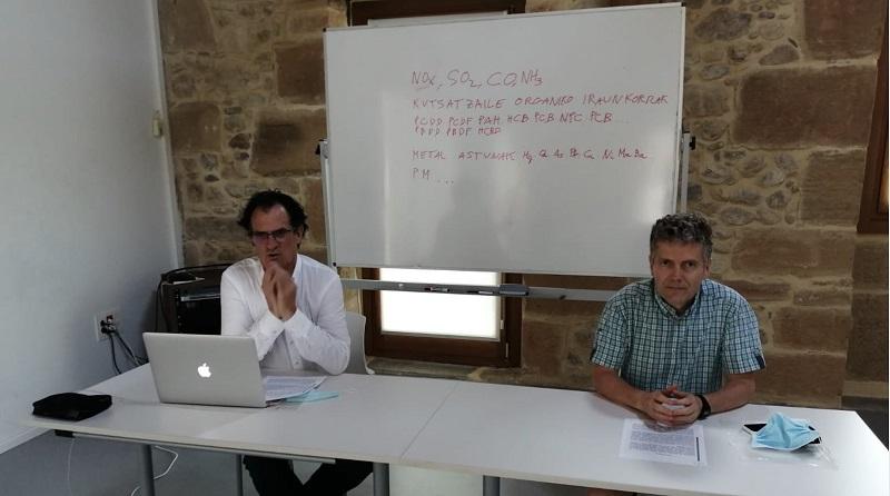 Xabier Mitxelena y  José Cruz Ruiz. Foto: GEIS