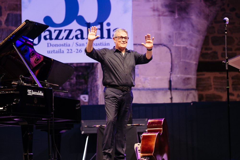 Chano Domínguez durante su concierto esta edición del Festival de Jazz. Foto: Santiago Farizano