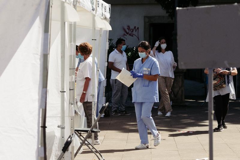 Foto de archivo. Pruebas PCRs en Ordizia este mes. Foto: Santiago Farizano