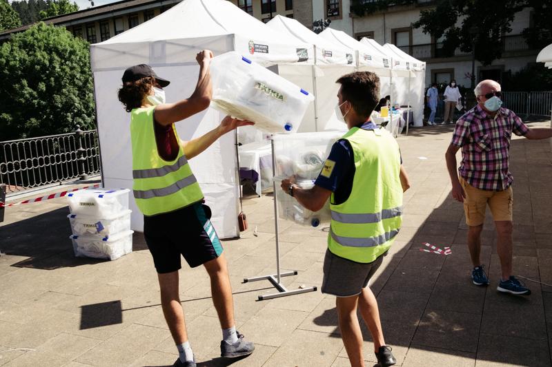 Personal sanitario estos días en Ordizia. Foto: Santiago Farizano