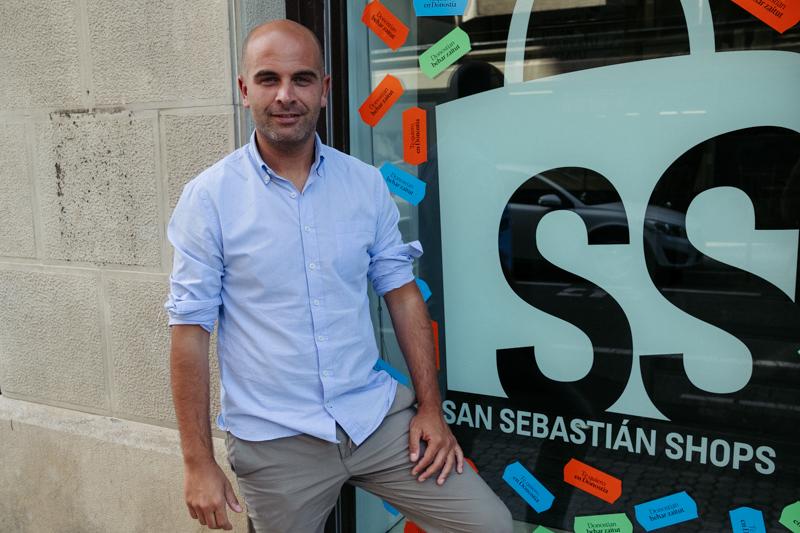 Iñigo García, gerente de San Sebastián Shops. Foto: Santiago Farizano