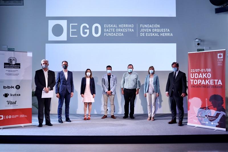 Imagen de archivo. Presentación del encuentro de verano de la Joven Orquesta de Euskal Herria (EGO). Foto: Kursaal