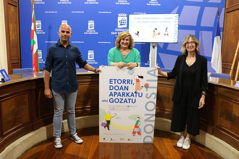 García, Lagé y Arana hoy en la presentación de las lanzaderas. Foto: Ayto.