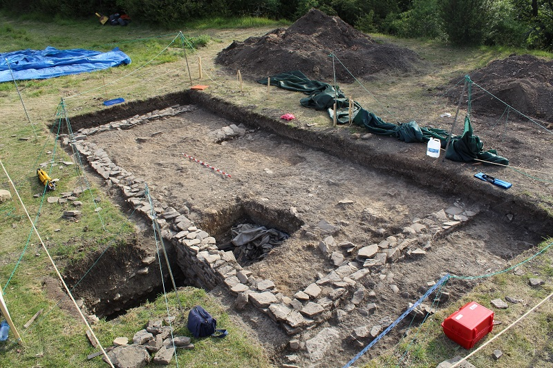 Zona de la excavación. Fotos: Aranzadi