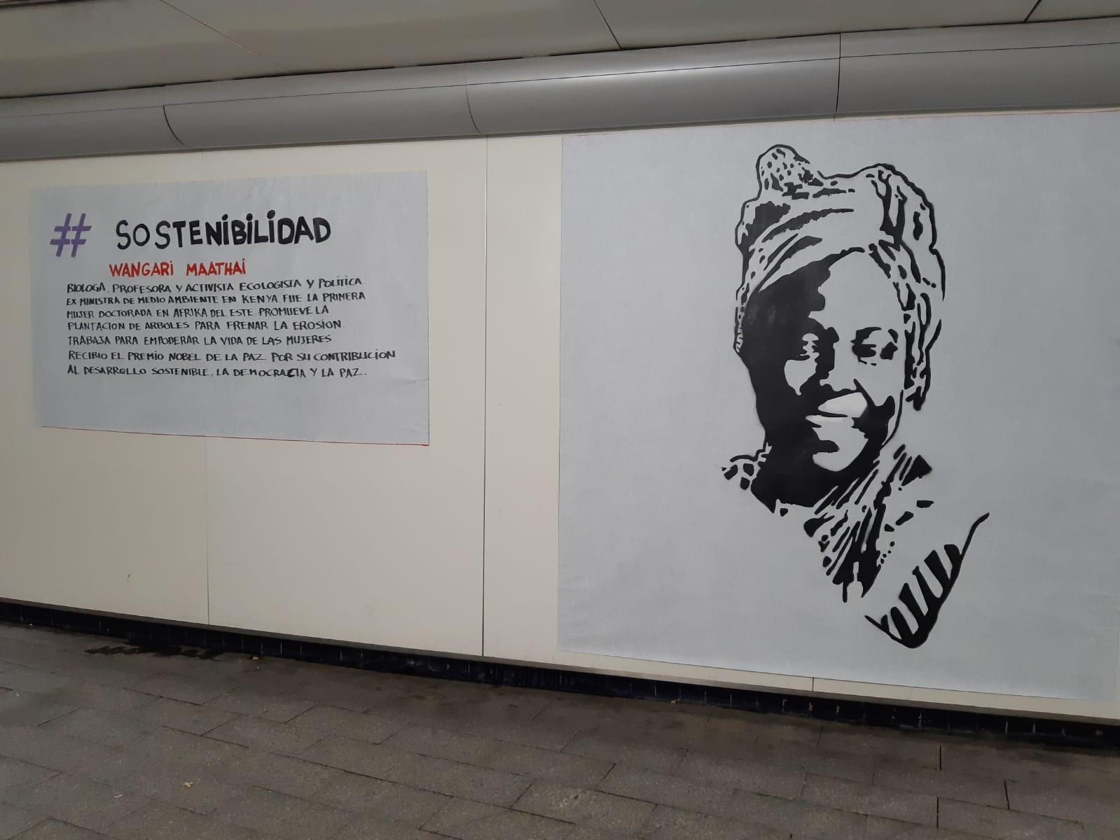 Retrato de Wangari Maathai, biologa, profesora y activista ecologista. Foto: Ayuntamiento