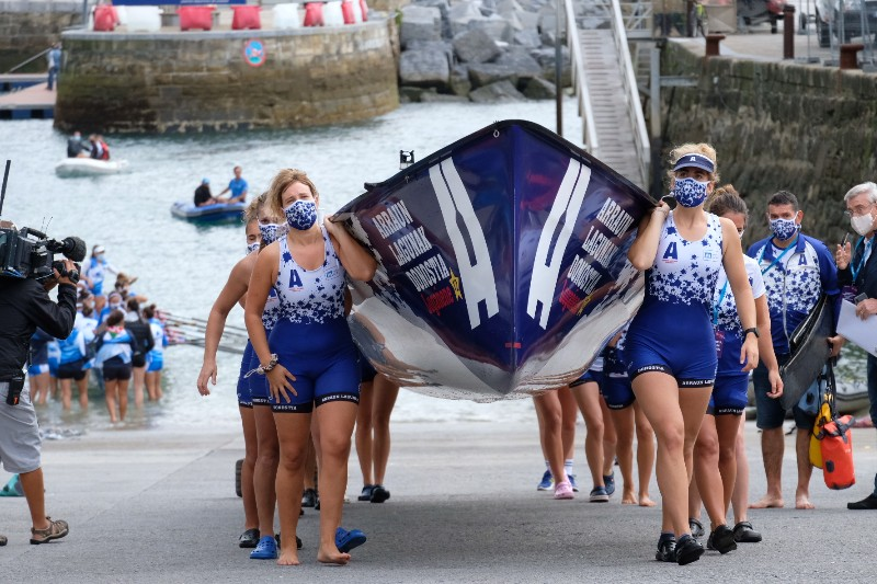 2020 0906 09465000 copy 800x533 - Bandera de la Concha: Toman la delantera Orio en la competición femenina y Hondarribia en la masculina