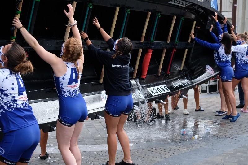 2020 0906 09473600 copy 800x533 - Bandera de la Concha: Toman la delantera Orio en la competición femenina y Hondarribia en la masculina