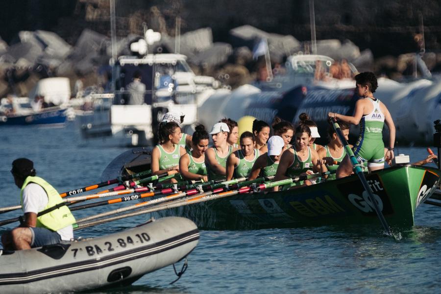 DSCF0992 - Bandera de la Concha: Triunfo de la tripulación masculina de Hondarribia y la femenina de Orio