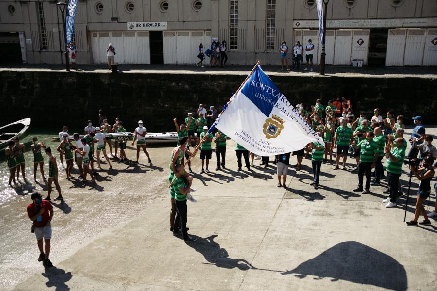 DSCF1968 - Bandera de la Concha: Triunfo de la tripulación masculina de Hondarribia y la femenina de Orio