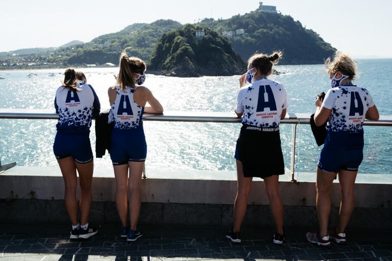 DSCF5506 - Bandera de la Concha: Orio gana la clasificatoria femenina seguida de Tolosaldea