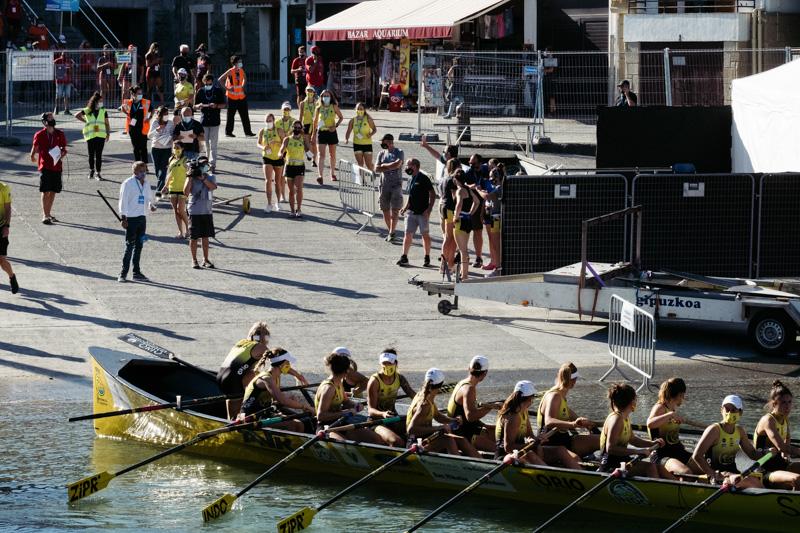DSCF5752 - Bandera de la Concha: Orio gana la clasificatoria femenina seguida de Tolosaldea