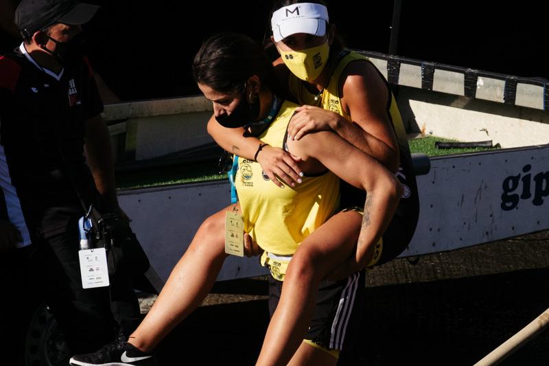 DSCF5808 - Bandera de la Concha: Orio gana la clasificatoria femenina seguida de Tolosaldea