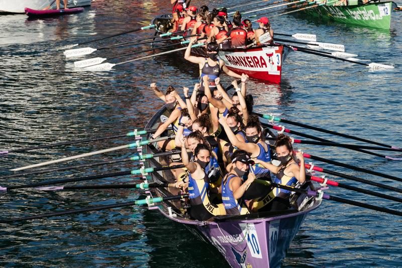 DSCF6007 - Bandera de la Concha: Orio gana la clasificatoria femenina seguida de Tolosaldea