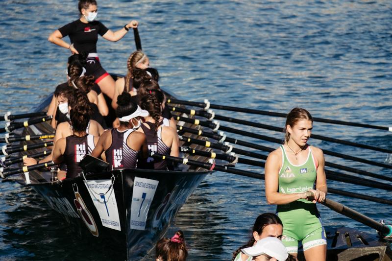 DSCF6073 - Bandera de la Concha: Orio gana la clasificatoria femenina seguida de Tolosaldea