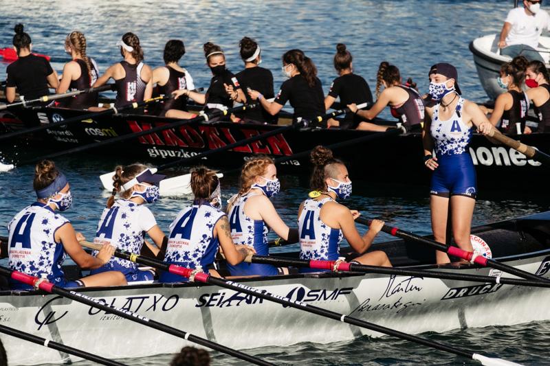 DSCF6168 - Bandera de la Concha: Orio gana la clasificatoria femenina seguida de Tolosaldea