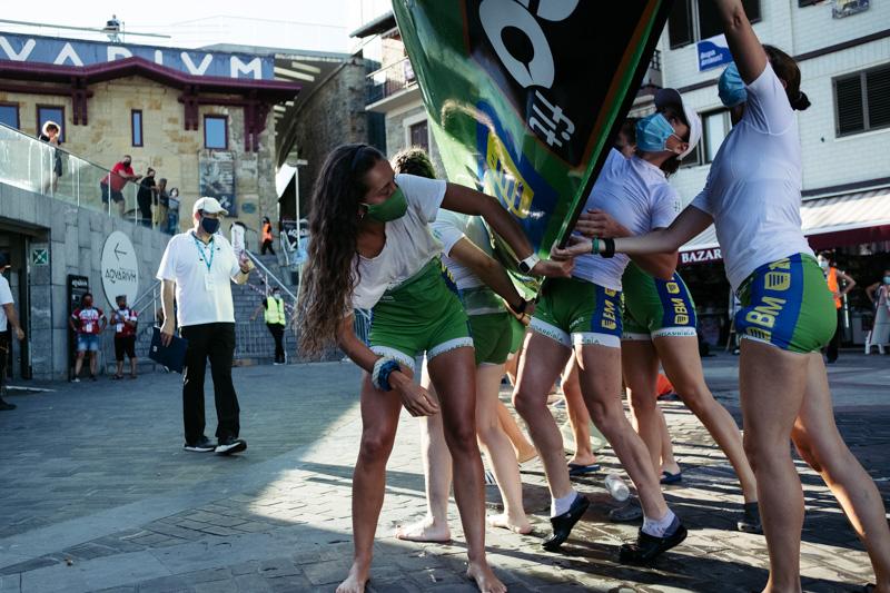 DSCF6212 - Bandera de la Concha: Orio gana la clasificatoria femenina seguida de Tolosaldea