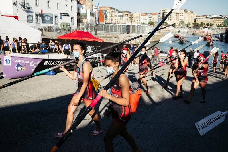 DSCF6243 - Bandera de la Concha: Orio gana la clasificatoria femenina seguida de Tolosaldea
