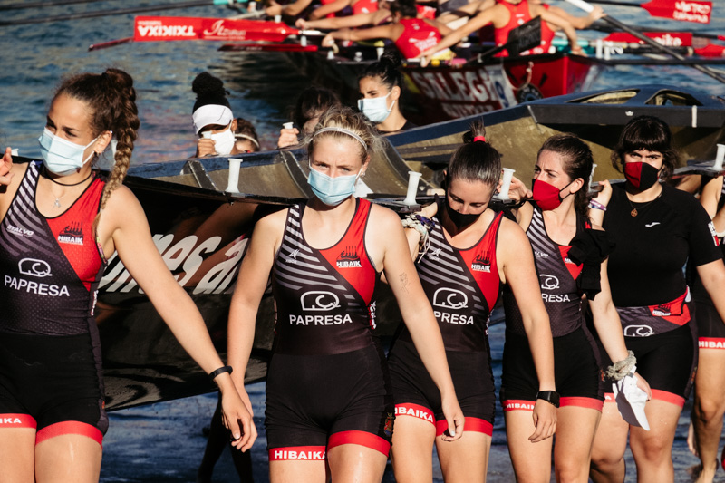 DSCF6310 - Bandera de la Concha: Orio gana la clasificatoria femenina seguida de Tolosaldea