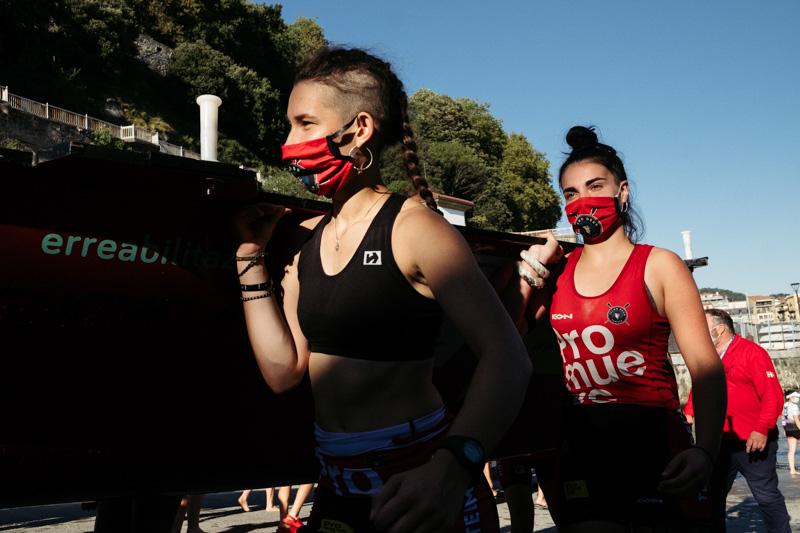 DSCF6364 - Bandera de la Concha: Orio gana la clasificatoria femenina seguida de Tolosaldea