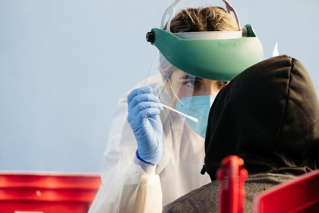 PCRs en Urnieta. Foto: Santiago Farizano