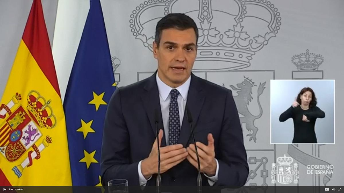 Pedro Sánchez. Foto: Web de la Moncloa