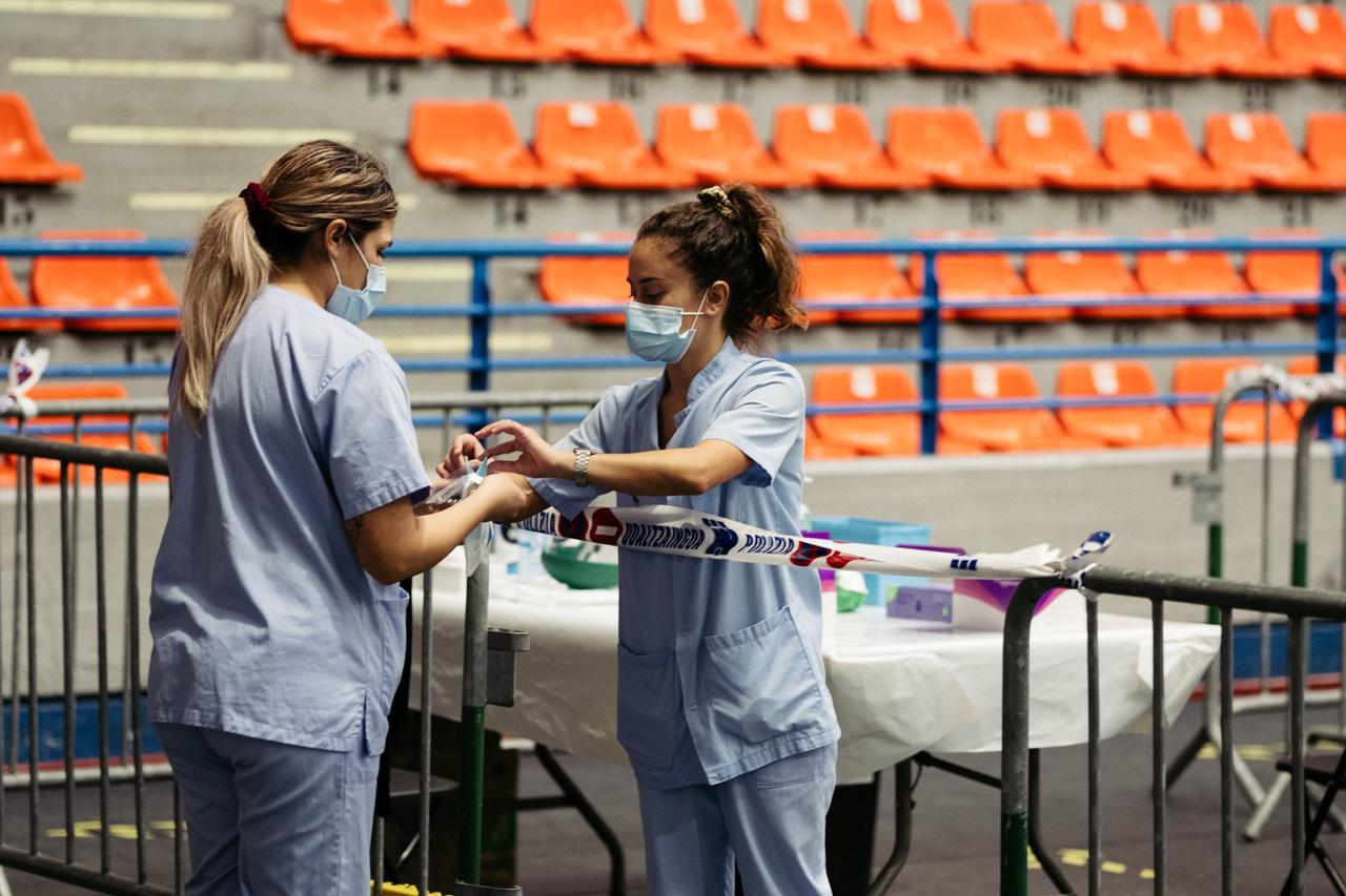 Operativo de extracción de PCRs. Foto: Santiago Farizano