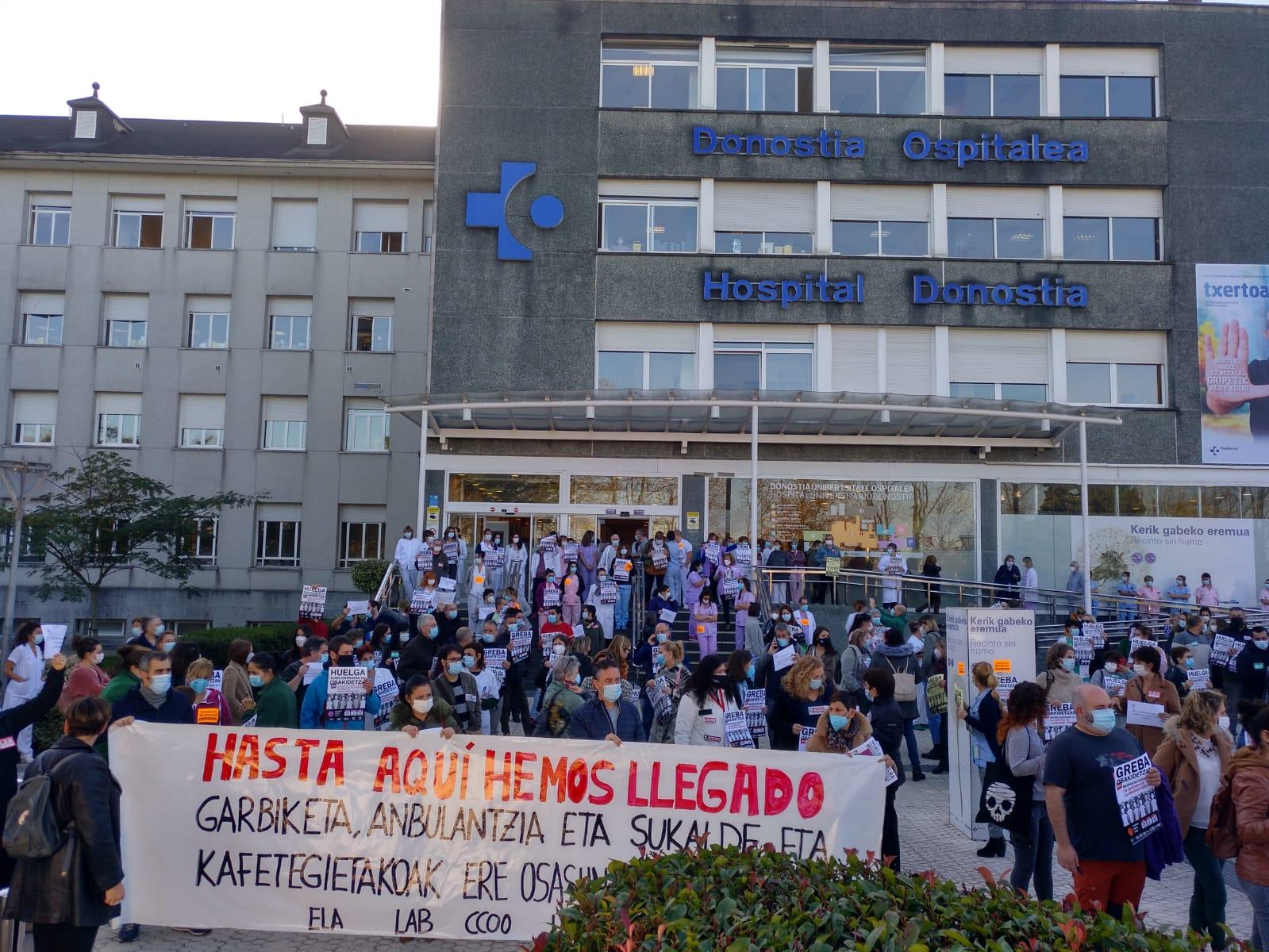 Hospital Donostia el 5 de noviembre. Foto: ELA sindikatua