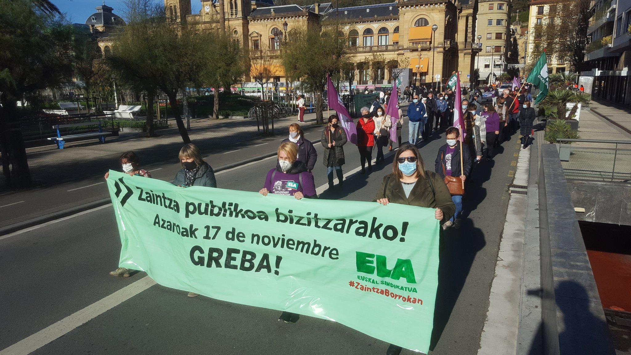 Manifestación del 17 de noviembre. Foto: Ela sindikatua