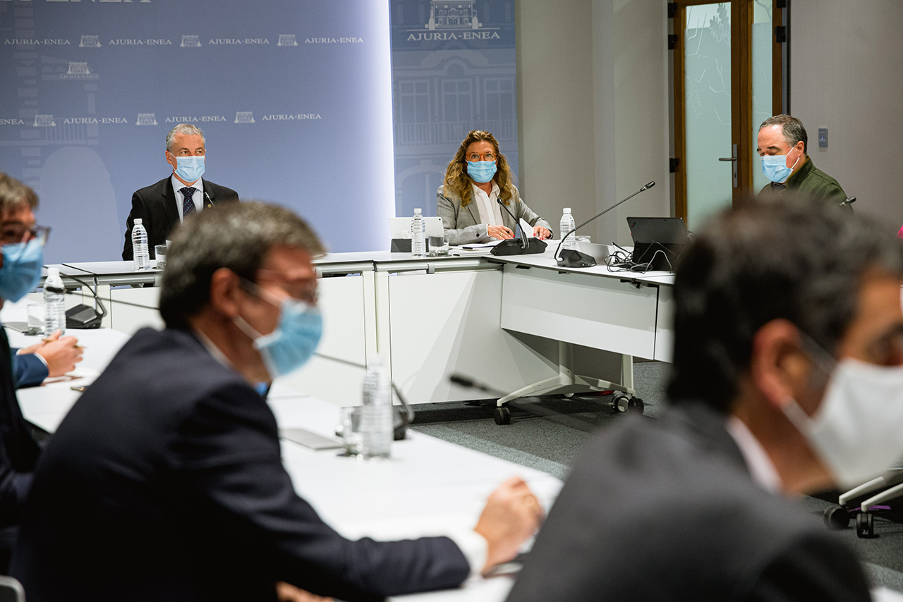 Reunión de los agentes del Plan de Protección Civil (LABI) en una imagen de archivo. Foto: Gobierno vasco