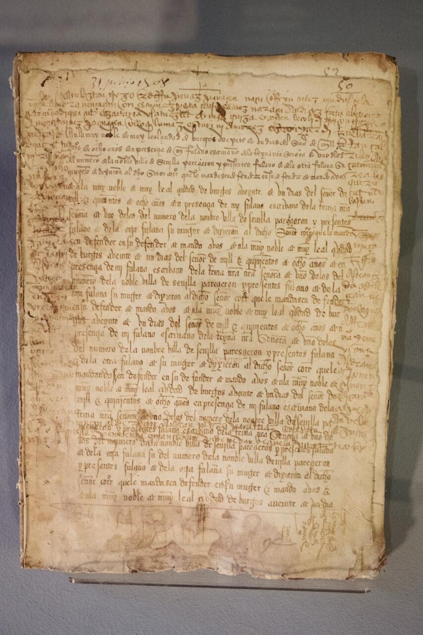 El texto escrito en euskera arcaico y  encontrado en el Archivo Histórico Provincial de Gipuzkoa (Oñati). Fotos: Santiago Farizano
