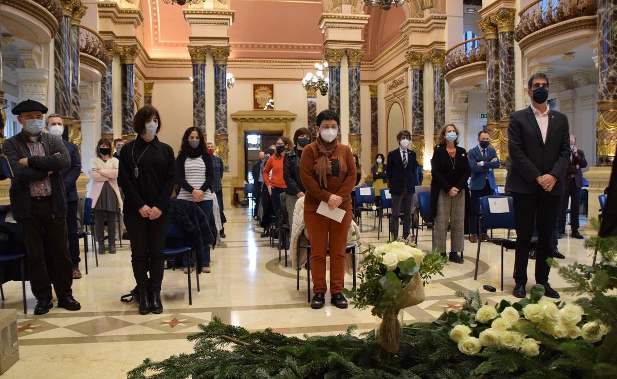 Homenaje en el Ayuntamiento a Mikel Zabalza el pasado diciembre. Foto: Ayto.