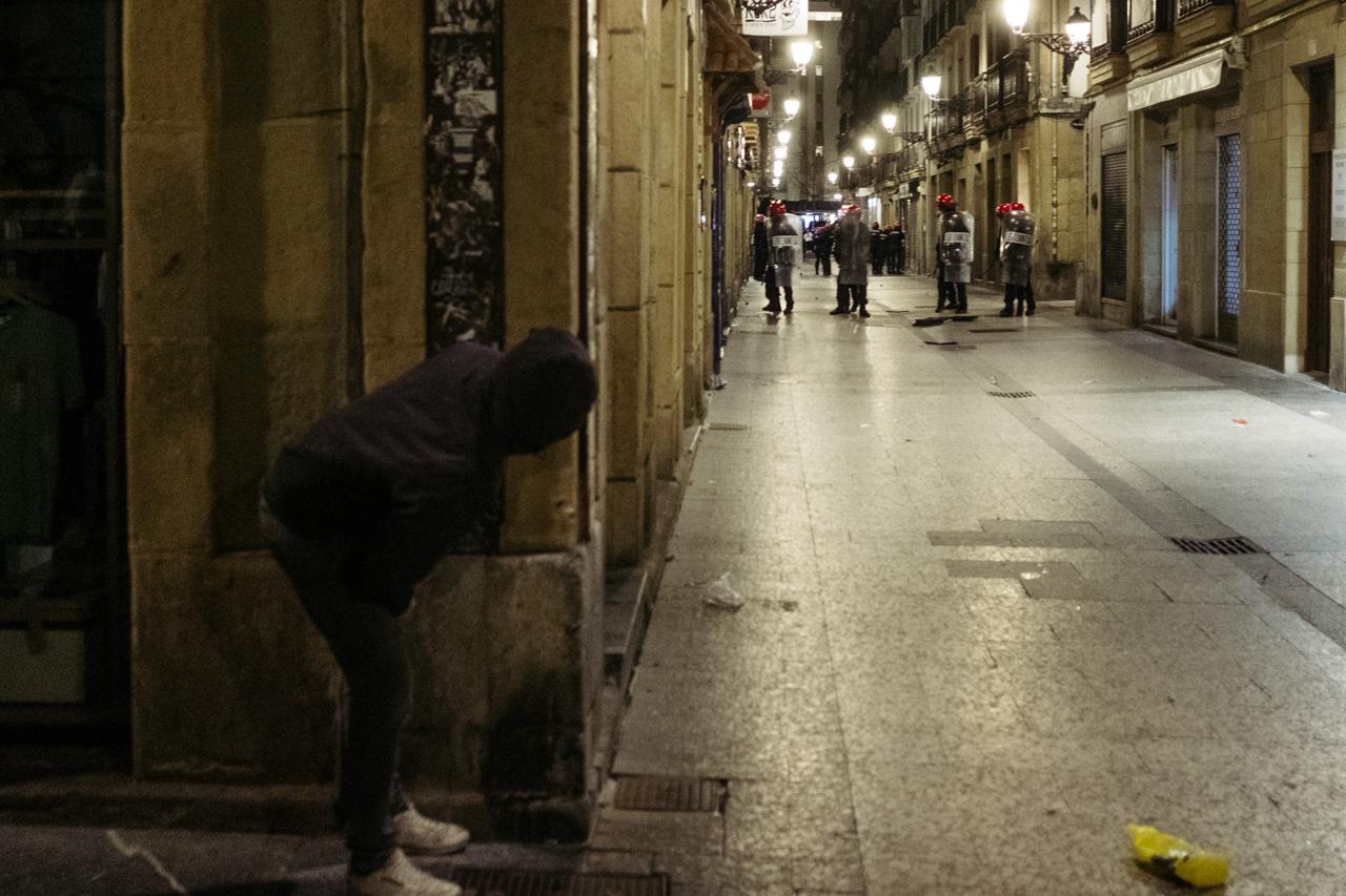 Imagen de archivo. Incidentes el 21 de enero por la noche en la Parte Vieja. Foto: Santiago Farizano