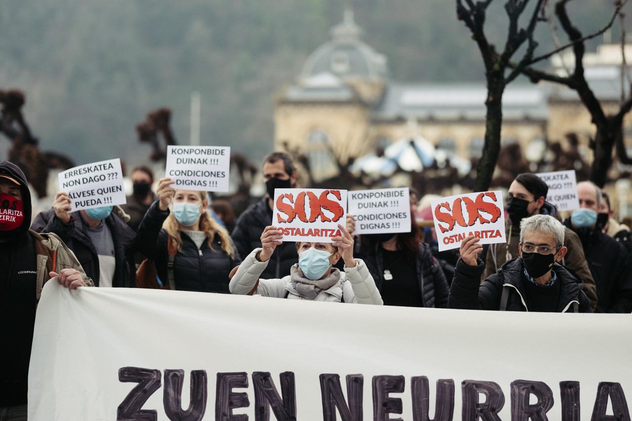 Imagen del 29 de enero, concentración de SOS Ostalaritza. Foto: Santiago Farizano
