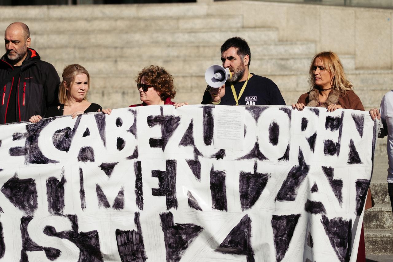 Imagen de archivo de la plataforma en defensa de las víctimas de Cabezudo. Foto: Santiago Farizano