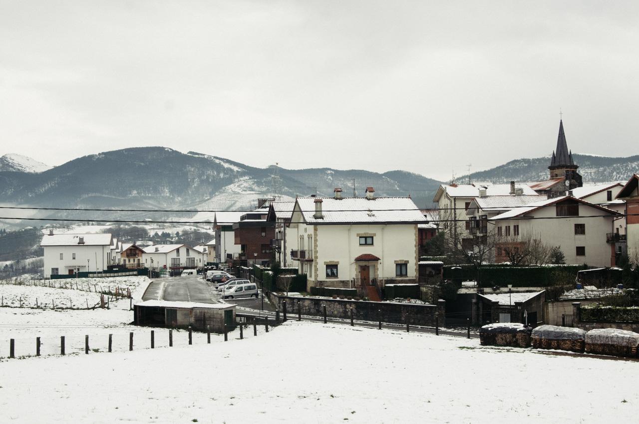Foto de archivo de una nevada en Aduna. Foto: Santiago Farizano