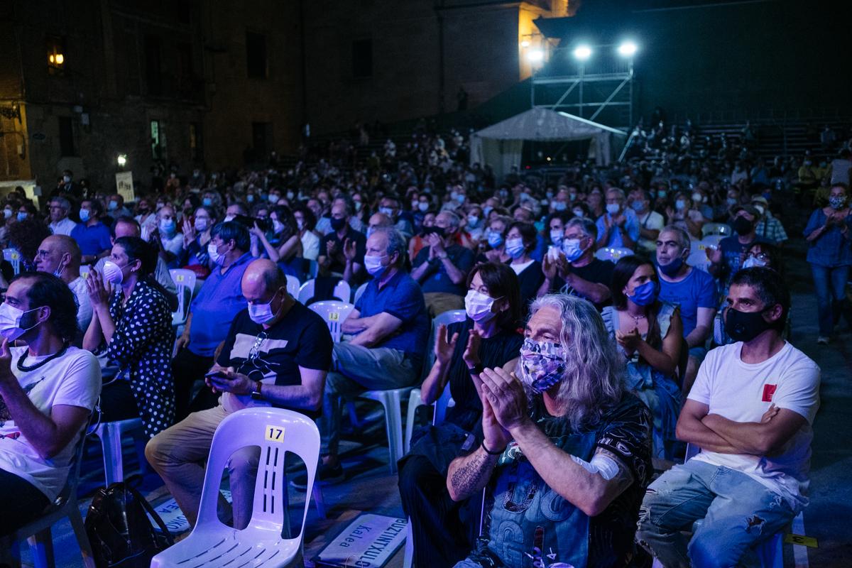 Plaza de la Trinidad durante el Festival de Jazz de 2020. Foto: Santiago Farizano